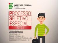 Interessados devem se inscrever até o dia 01/02 no Portal do Estudante. Campus Cabedelo oferta 12 vagas em dois cursos superiores