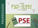 PSCT e PSE 2019.2 - Prorrogação
