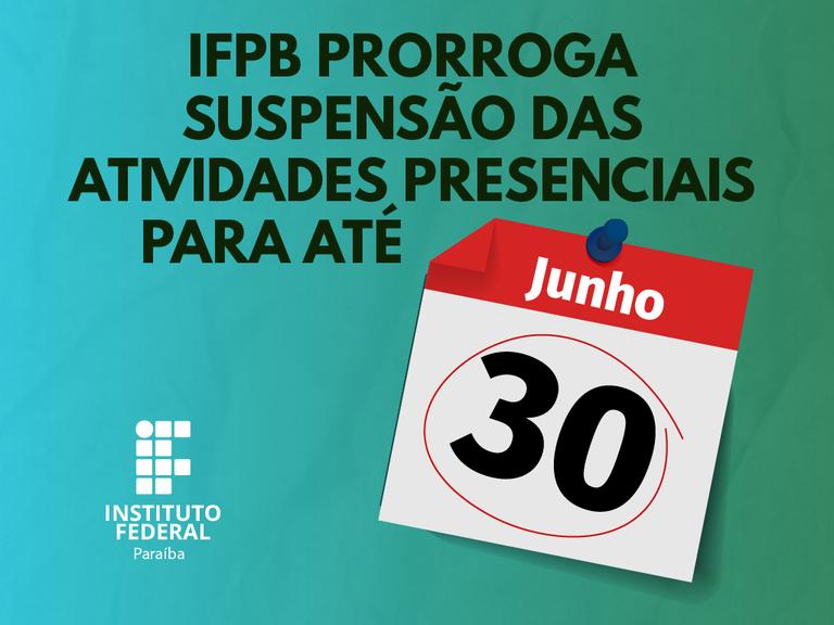 Decisão atinge todas as unidades do IFPB e abrange atividades didático-pedagógicas