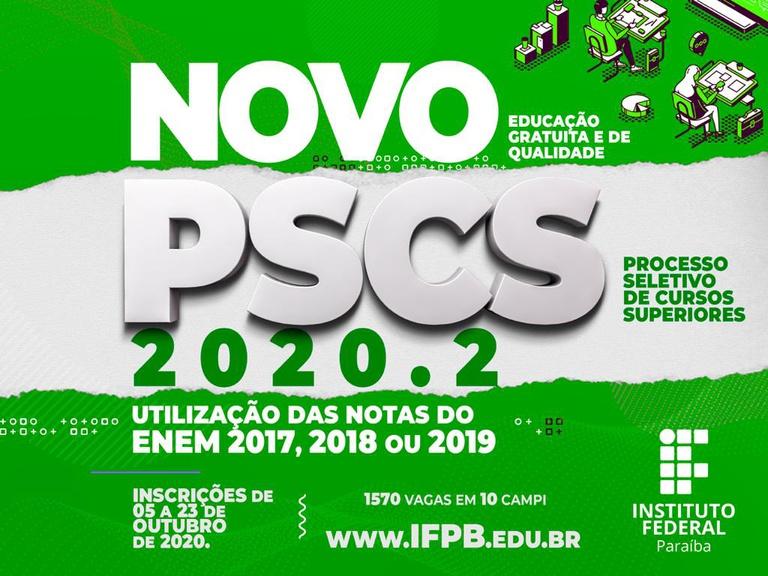 Inscrições até 23/10. Candidatos podem utilizar notas do ENEM de 2017, 2018 ou 2019