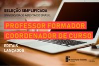 Há vagas para professores formadores e para coordenador do Curso de Especialização em Docência para a EPT