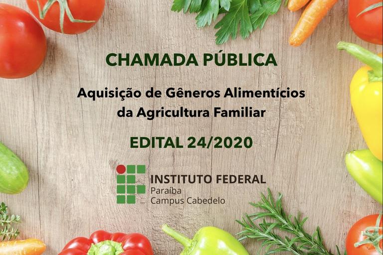 Chamada Pública - Agricultura Familiar