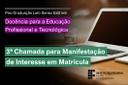Edital - Estudantes DocentEPT - 3a Chamada