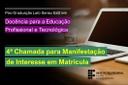Edital - Estudantes DocentEPT 4a Chamada