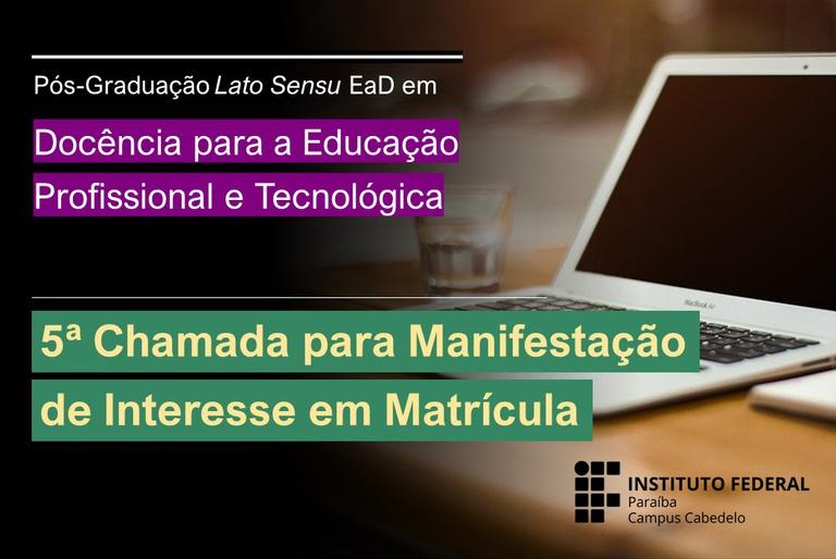 Edital - Estudantes DocentEPT - 5ª Chamada