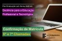 Edital - Estudantes DocentEPT - Confirmação de Matrícula 6a e 7a Chamadas