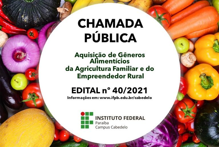 Os gêneros adquiridos comporão kits de alimentos que serão entregues aos estudantes da educação básica. Interessados podem apresentar propostas até 05/07