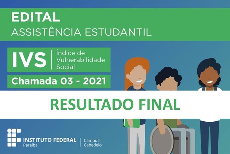 Resultado Final IVS 2021 - Chamada 03