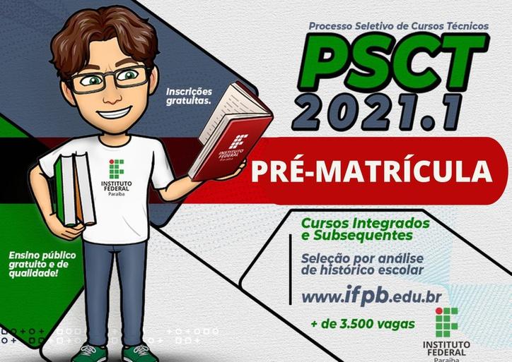 Pré-matrícula no Campus Cabedelo Centro é até dia 27/03.