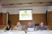 O reitor Nicácio e sua equipe se reuniu com servidores, alunos e dirigentes do Campus nesta terça-feira, 04.