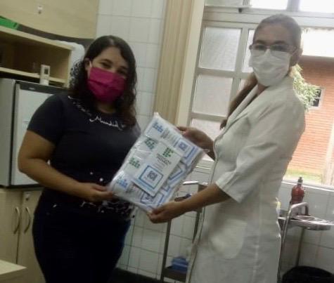 Campus Cajazeiras doa máscaras de tecido para Marcha Mundial das Mulheres