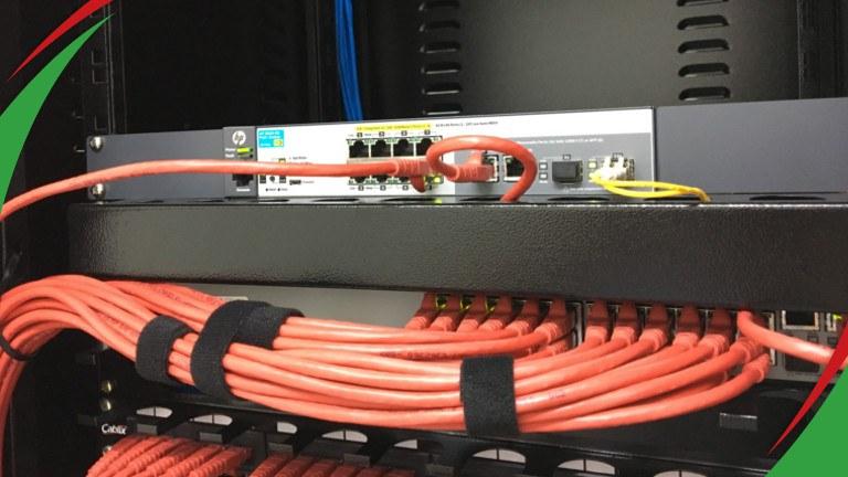 Infraestrutura compatível com fibra ótica