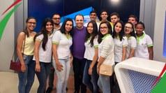 Discentes extensionistas tiveram a oportunidade de visitar a sede da afiliada da Rede Globo que cobre 70% dos municípios paraibanos.