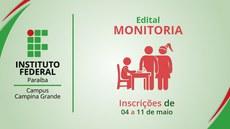 Campus Campina lança edital de inscrição para monitoria