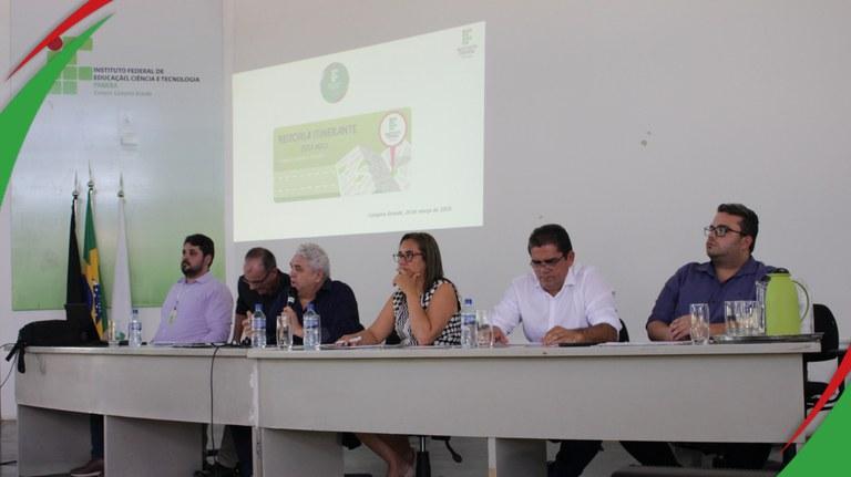 Reitor e equipe visitam campus Campina Grande