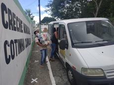 Em Campina Grande, creche municipal foi ponto de apoio para a doação de cestas básicas