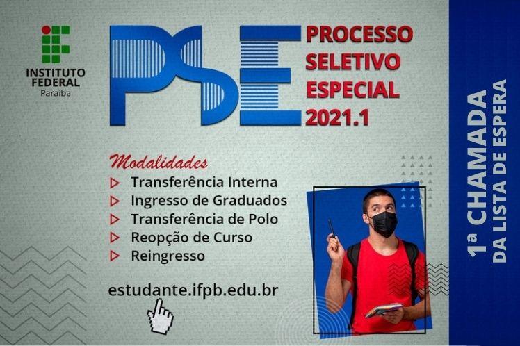 PSE 2021.1 - 1ª CHAMADA DA LISTA DE ESPERA