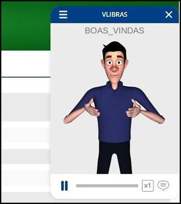 Imagem de exemplo da Integração do AVA com o VLIBRAS