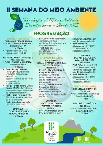 Tema do evento é Tecnologia e Meio Ambiente: Desafios para o Século XXI