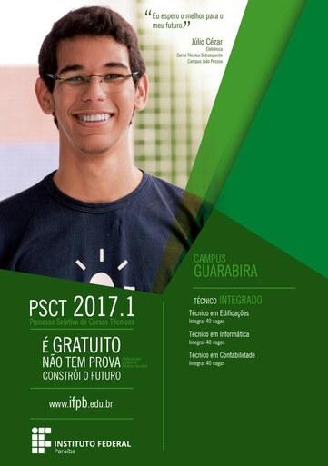 IFPB Guarabira inscreve para 120 vagas em processo seletivo gratuito a partir da próxima segunda-feira (03/10)