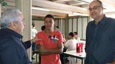 Nicácio esteve também no campus provisório que atende 400 estudantes