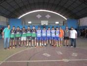Participam alunos dos cursos técnicos integrados do Campus nas modalidades de basquete e futsal e as atividades ocorrem no ginásio do CIEC de 26 a 29 de abril.