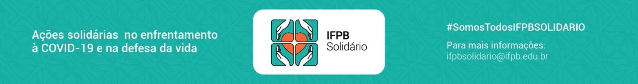 Banner Campanha IFPB Solidário