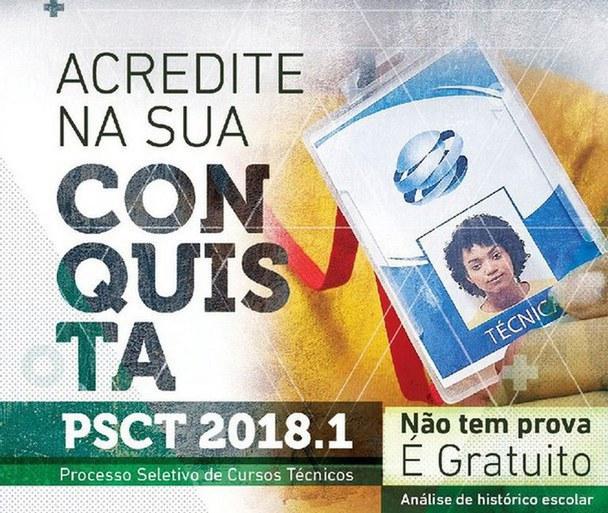 Divulgado o Edital de Confirmação de Matrícula da 3ª Chamada do PSCT 2018