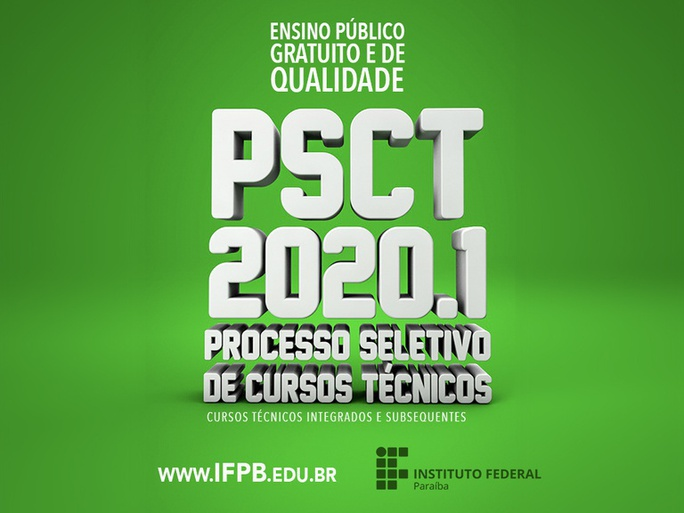 Divulgado o edital de confirmação de matrícula e lista de indeferidos da primeira chamada do Campus Itabaiana do PSCT 2020.
