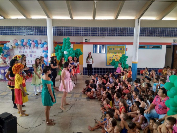 Ação fez parte do encerramento do projeto Promovendo o Desenvolvimento Infantil