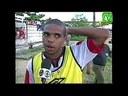 Reportagem no Paraíba Meio Dia sobre o treino de futebol do flamengo no campo do CEFET-PB 2000