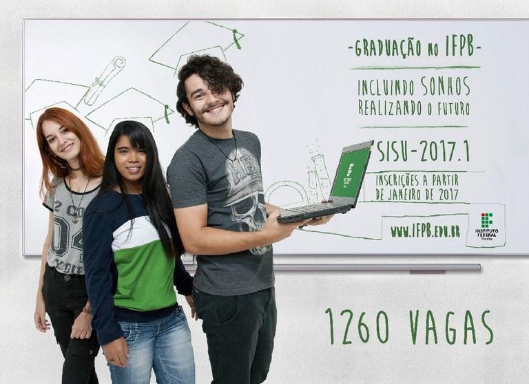 IFPB vai ofertar 1260 vagas em 10 campi. Só no campus João Pessoa, há 450 vagas para 12 cursos.