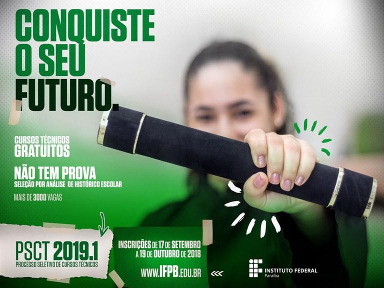 As inscrições começam hoje, dia 17 de setembro, são gratuitas e online. Para o Campus João Pessoa são oferecidas 590 vagas