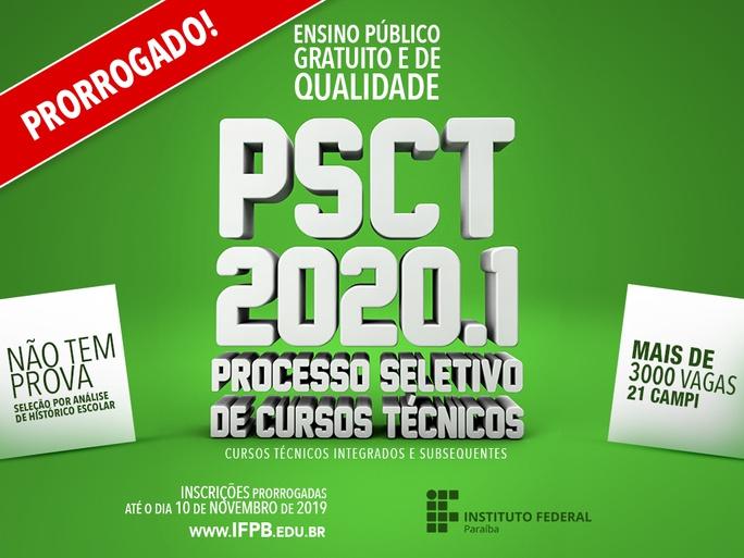 São ofertadas 3.740 vagas em toda Paraíba. O novo prazo para inscrições é 10 de novembro
