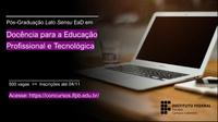 Inscrição gratuita para pós-graduação na modalidade EaD vai até dia 4 de novembro