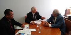 Reitor Nicácio e o deputado Frei Anastácio