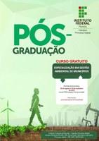 Pós-Graduação em Gestão dos Recursos Ambientais do Semiárido, em Picuí, e Gestão Ambiental de Municípios, em Princesa Isabel. Inscrição gratuita em cursos presenciais