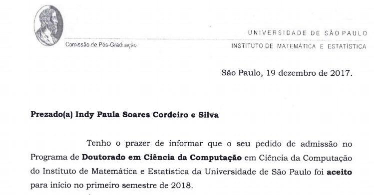 carta de doutorado