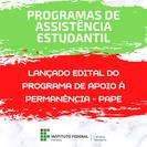 Aberta seleção do Programa de Apoio à Permanência do Estudante - PAPE, do IFPB campus Monteiro