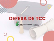 No dia 06 de abril de 2021, às 20:45, teremos a defesa de TCC dos discentes Luciano Ferreira de Azevedo e Thiago Vanilson Florencio, do curso de ADS. Devido ao período de isolamento social pelo COVID-19, a defesa ocorrerá em ambiente virtual e de forma pública.