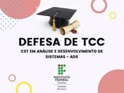 No dia 18 de outubro de 2021, às 16h30, acontecerá a defesa de TCC do discente João Hiago Santos Sousa, do curso de ADS. Em função do período de isolamento social pelo COVID-19, a defesa ocorrerá totalmente em ambiente virtual por meio da ferramenta Google Meet, de forma pública.