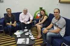 Comissão organizadora do evento visita o Reitor Nicácio Lopes.