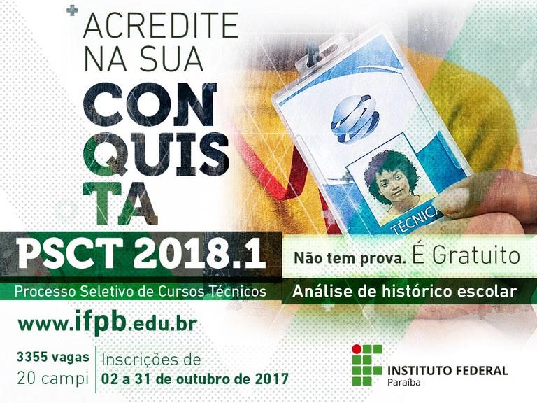 Inscrição gratuita e online em cursos técnicos integrados ao Ensino Médio e técnico Subsequente vai até o dia 31 de outubro