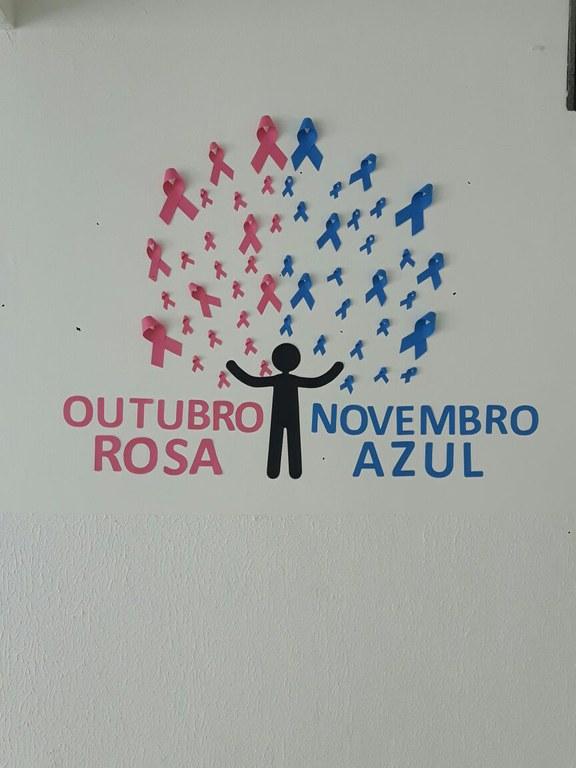 Reitoria adereàs Campanhas Outubro Rosa e Novembro Azul u2014 Instituto Federal da Paraiba IFPB -> Decoração De Outubro Rosa E Novembro Azul