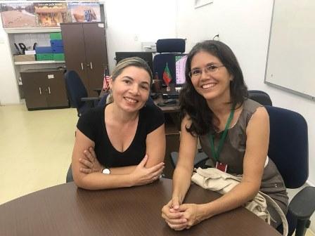 Professoras Ana Cláudia e Ana Angélica, Coordenadoras do Projeto
