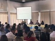A Pró-Reitora Tânia Andrade apresentou o desenho efetivo do projeto de curricularização da extensão no IFPB, enfatizando parceria com o ensino.