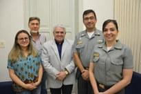 Capitão dos Portos da Paraíba visita a Reitoria do IFPB para ratificar parceria na formação de aquaviários e pescadores