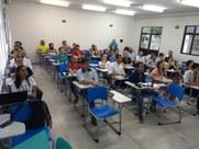 No encontro estão sendo apresentadas as ações da pró-reitoria e realizados treinamentos