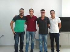 Da direita para esquerda: Edson Almeida e Weslley Santos, junto com Wesley Porto e Carlos Alberto, alunos de Telemática do Campus CG, que também participaram da final nacional.