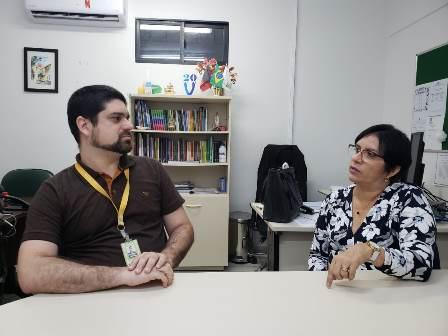 Professores Danilo Regis e Silvana Costa